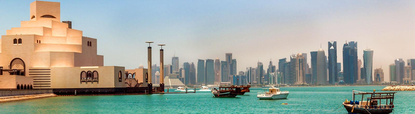 view of Doha city