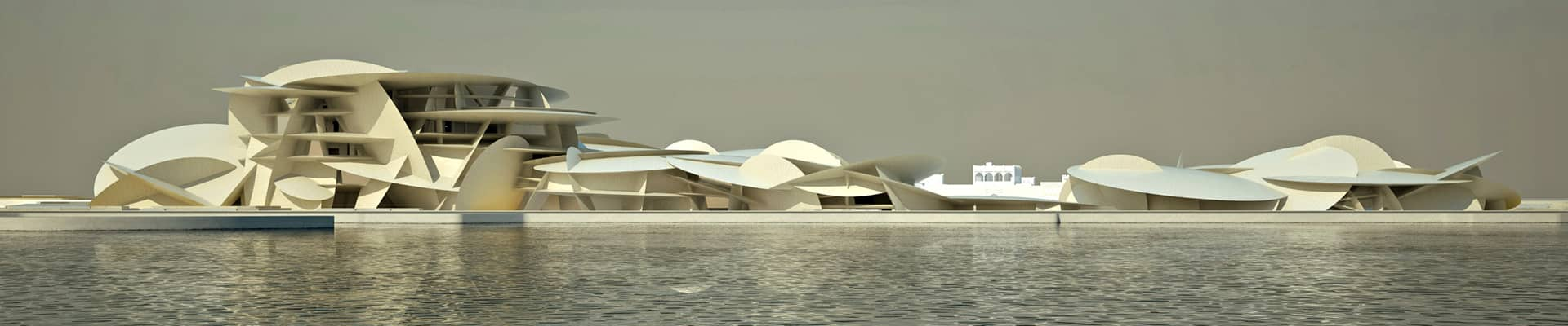 National Museum West View from the Doha Bay
