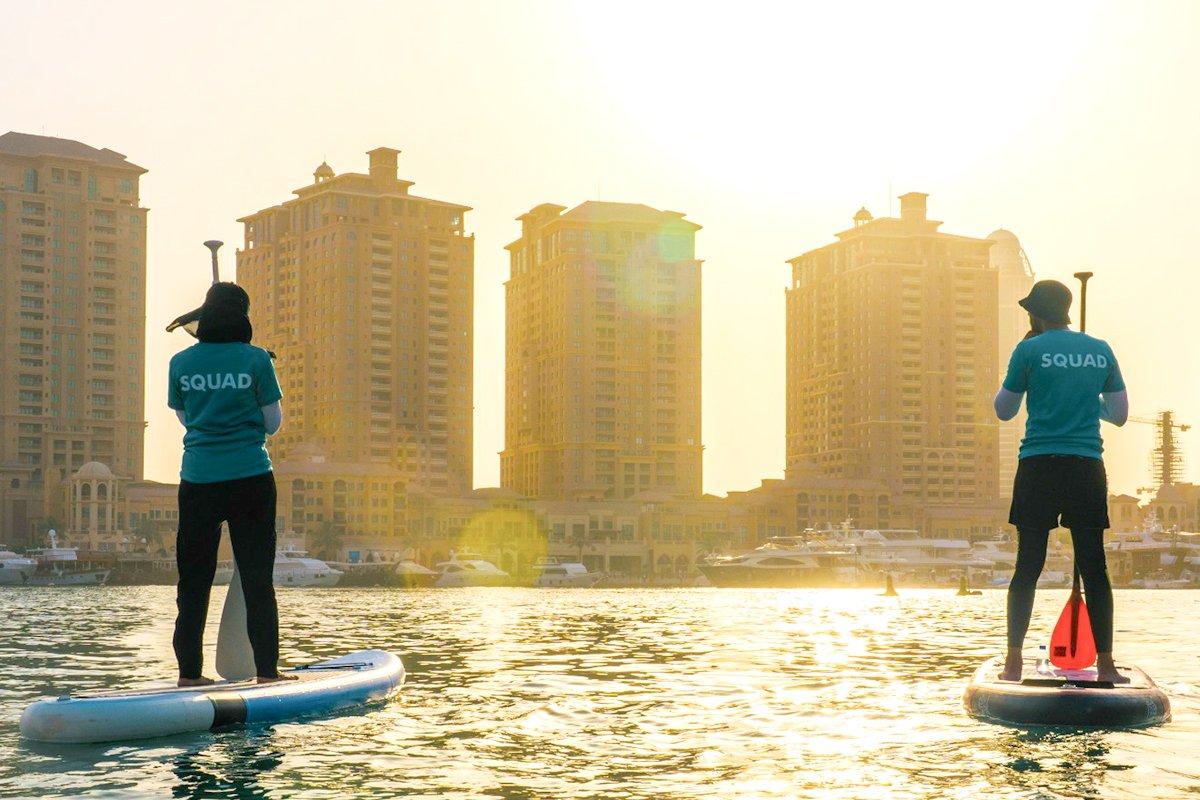 SUP at Pearl Qatar